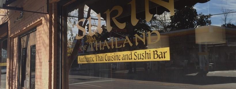 Exterior of Suring of Thailand restaurant.