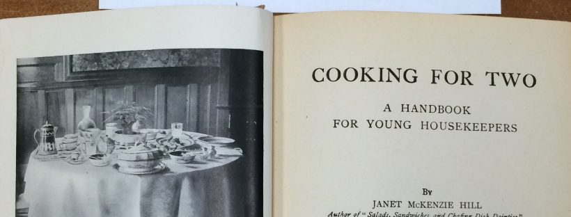 """Cooking for Two"" cookbook."